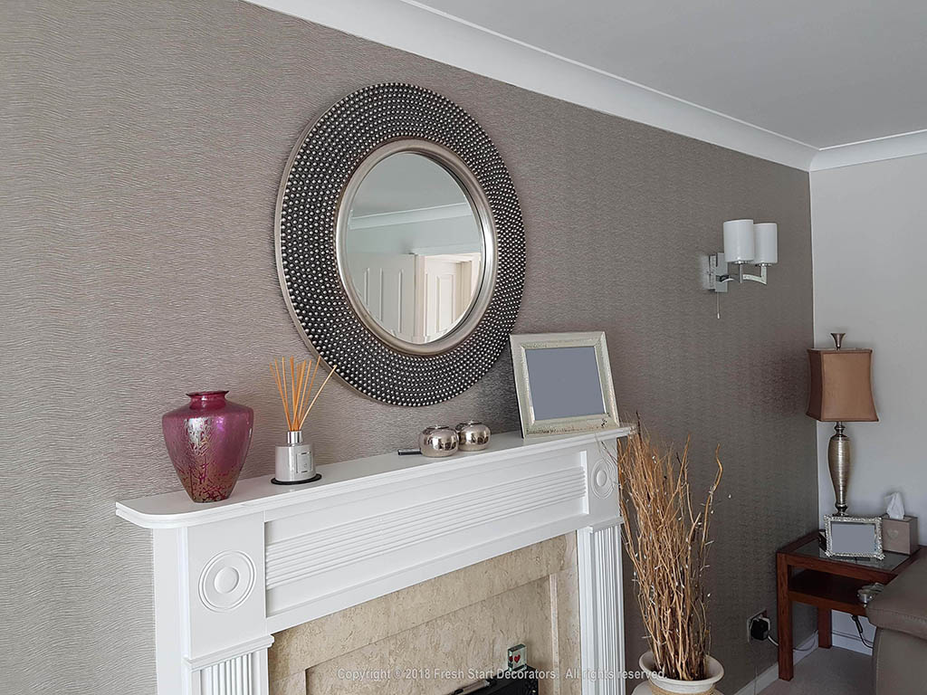 Living room revamped by birmingham decorators