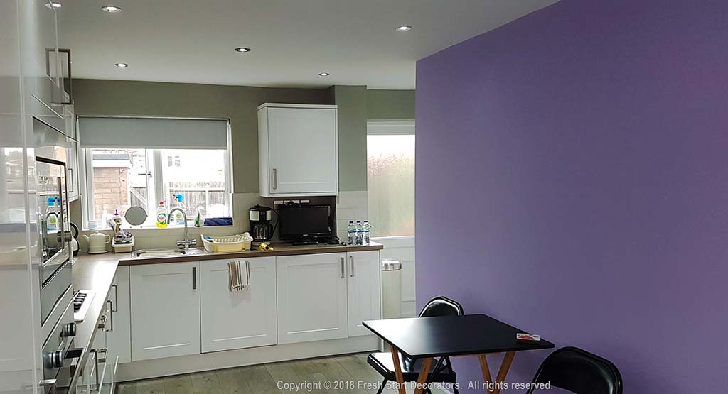 Kitchen painted and decorated by Fresh Start Decorators